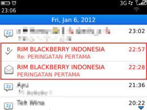 list message rim