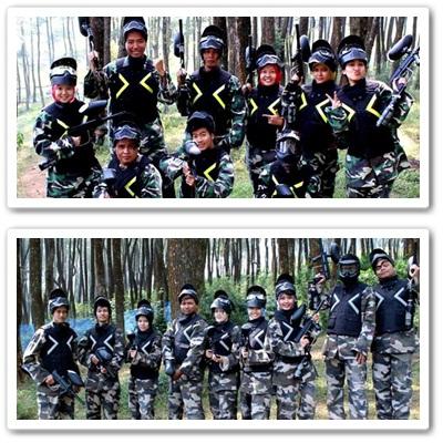 team abu vs hijau army paitball dewaseo