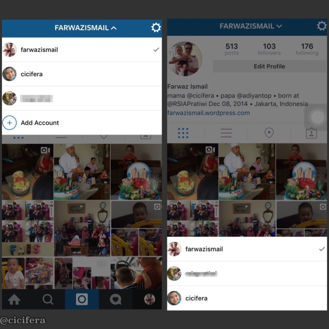 cara pindah akun instagram