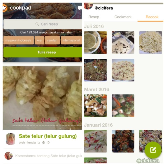 apps cookpad, kumpulan resep masakan