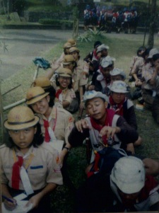 Salah satu kegiatan di Jambore Nasional 2001